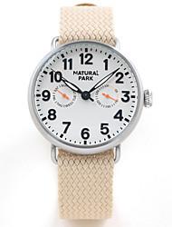 cheap -Men's Wrap Bracelet Watch Japanese Japanese Quartz Nylon Khaki 30 m Water Resistant / Waterproof Creative Casual Watch Analog Fashion Minimalist - Silver Two Years Battery Life
