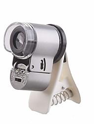 Недорогие -Объектив для мобильного телефона Макролинза стекло / Пластиковые & Металл / ABS + PC 65X 20 mm 0.01 m 9 ° Линза / объектив с LED подсветкой / Творчество / Новый дизайн