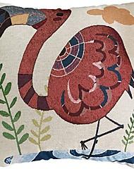 Недорогие -1 штук Хлопок / Лён Наволочка, Геометрический принт Рисунок Животные Modern