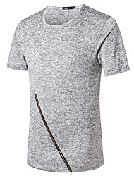halpa -Miesten Ohut Puuvilla Yhtenäinen T-paita