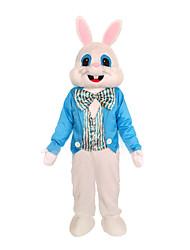 billige -Rabbit Mascot påskeharen Cosplay Kostumer سترة Barne Voksne Herre Ett Stykke Cosplay Påske Festival / høytid Polyester Blå / Blå+Grønn Karneval Kostumer Lapper