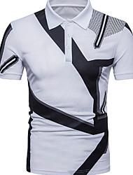 billiga -mans polo-geometriska skjortkrage