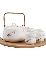 Недорогие -Керамика Новый дизайн Чайный 6шт чайник Чашка