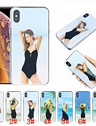 Недорогие -чехол для apple, iphone xr xs xsmax 8 8plus 7 7plus течет жидкость дизайн мода сексуальная леди мягкий тпу задняя крышка чехол