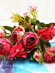 저렴한 -인공 꽃 2 분기 싱글 웨딩 플라워 우아한 영원한 꽃 테이블  플라워