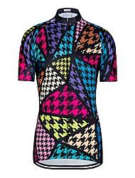 お買い得  -女性用 半袖 サイクリングジャージー - ブラック バイク ジャージー トップス 速乾性 スポーツ ポリエステル100% エラステイン マウンテンサイクリング ロードバイク 衣類 / 伸縮性あり
