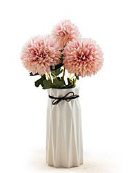 Χαμηλού Κόστους -Ψεύτικα λουλούδια 2 Κλαδί Κλασσικό Γάμος Ποιμενικό Στυλ Ορτανσίες Αιώνια Λουλούδια Λουλούδι για Τραπέζι