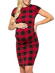 tanie -Damskie Wyrafinowany styl Elegancja Szyfon Sukienka - Geometric Shape, Pofałdowany Nadruk Maxi