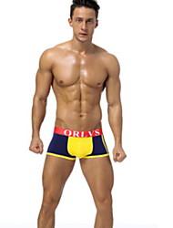 رخيصةأون -الرجال الملابس الداخلية القطنية الملاكمين - طباعة منتصف الخصر
