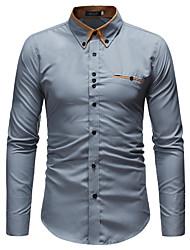 economico -camicia da uomo - collo camicia a quadri