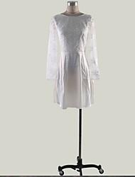 billige -kvinner over kneet en linje kjole hvit s m l xl