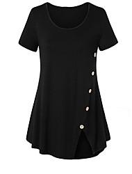 halpa -naisten plus-kokoinen ohut t-paita - pyöreä kaula-aukko