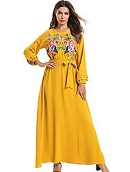 رخيصةأون -المرأة ماكسي فستان سوينغ الأصفر م ل xl XXL
