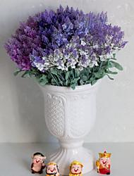 levne -Umělé květiny 5 Větev Klasické Jevištní doplňky Pastýřský Styl Světle modrá Věčné květy Květina na stůl