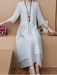 זול -מידי שמלה טישרט סווינג חולצה רזה בגדי ריקוד נשים