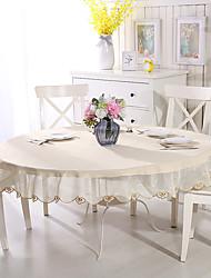 halpa -Nykyaikainen Special Material Pyöreä Table Cloths Yhtenäinen Kukka Pöytäkoristeet