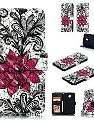 זול -מגן עבור Apple iPhone XS Max / iPhone 6 ארנק / מחזיק כרטיסים / עם מעמד כיסוי מלא פרח קשיח עור PU ל iPhone XS / iPhone XR / iPhone XS Max