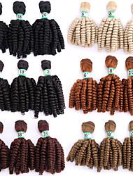 billige -Laflare Nyanse Syntetiske utvidelser Bølget Syntetisk hår Medium Lengde Hår extension Hår Veve 3 deler Cosplay Justerbar Beste kvalitet Dame Jul Bryllup Halloween