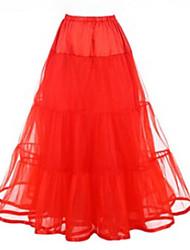 Недорогие -Нижняя юбка пачка Под юбкой 1950-е года Розовый Цвет фуксии Со стразами Нижняя юбка / Кринолин