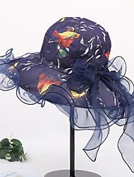 abordables -Femme Actif / Basique / Le style mignon Chapeau de Paille Couleur Pleine