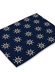 cheap -Contemporary Nonwoven Square Placemat Geometric Eco-friendly Table Decorations 1 pcs