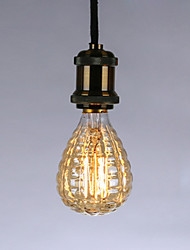 رخيصةأون -40 W E26 / E27 أصفر الجسم شفافة المتوهجة خمر اديسون ضوء لمبة 220-240 V