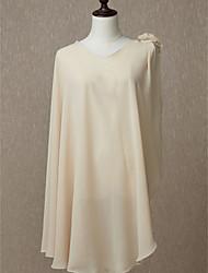 ราคาถูก -เสื้อไม่มีแขน ชิฟฟอน งานแต่งงาน / งานปาร์ตี้ / งานราตรี Women's Wrap กับ ดอกไม้ ผ้าคลุมไหลถัก / ผ้าคลุมไหล่