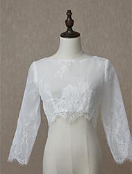 ราคาถูก -แขนยาว ลูกไม้ งานแต่งงาน / งานปาร์ตี้ / งานราตรี Women's Wrap กับ ลูกไม้ Boleros