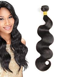 olcso -4 csomópont Brazil haj Hullámos haj Szűz haj Remy haj Az emberi haj sző Késleltető Bundle Hair 8-28 hüvelyk Természetes szín Emberi haj sző Menő Vastag Fekete hölgyeknek Human Hair Extensions Női