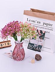 abordables -Fleurs artificielles 1 Une succursale Classique Accessoires de Scène Européen Gypsophila Fleurs éternelles Fleur de Table