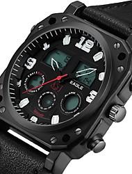 Недорогие -ASJ Муж. электронные часы Японский Цифровой Черный 100 m Защита от влаги Будильник Хронометр Аналого-цифровые Мода - Черный