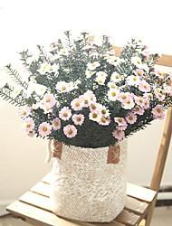 billiga -Konstgjorda blommor 1 Gren Klassisk Europeisk Prästkragar Eviga Blommor Bordsblomma