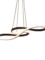 Недорогие -Современный стиль музыкальная нота формы светодиодные подвесные светильники силикагель оттенок алюминия гостиная столовая спальня светильник