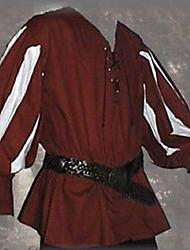 Недорогие -Рыцарь Эпоха возрождения Древний Рим Костюм Муж. Маскарад Белый / Черный / Красный Винтаж Косплей Halloween Маскарад Длинный рукав Широкий, стянутый у запястья V-образный вырез