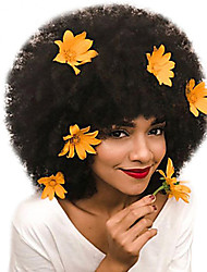 Недорогие -Натуральные волосы Полностью ленточные Парик Глубокое разделение Rihanna стиль Монгольские волосы Афро Квинки Парик 130% Плотность волос Подарок Горячая распродажа Удобный Нейтральный Жен. Длинные