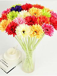 Недорогие -Искусственные Цветы 1 Филиал Классический Сценический реквизит Свадьба Хризантема Вечные цветы Букеты на стол