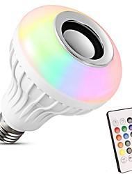baratos -1pç 12 W 600 lm E26 / E27 Lâmpada de LED Inteligente 26 Contas LED SMD 5050 Bluetooth Muitas cores 100-240 V