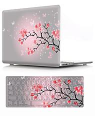 """Недорогие -MacBook Case with Protectors Цветы ПВХ для MacBook Air, 13 дюймов / Новый MacBook Pro 15"""" / New MacBook Air 13"""" 2018"""