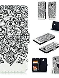 Недорогие -Кейс для Назначение SSamsung Galaxy Note 5 Кошелек Чехол Животное Твердый Кожа PU для Note 5 / Note 4 / Note 3