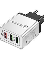 Недорогие -Зарядное устройство USB -- 3 Настольная зарядная станция С быстрой зарядкой 2.0 Стандарт США / Евро стандарт Адаптер зарядки