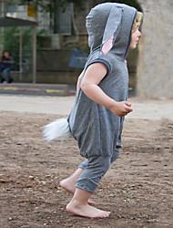 preiswerte -Baby Jungen Aktiv / Grundlegend Solide Ärmellos Baumwolle Einzelteil Grau