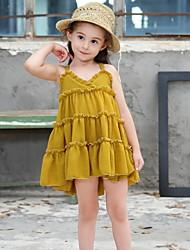 Χαμηλού Κόστους -Παιδιά Κοριτσίστικα Μονόχρωμο Φόρεμα Πράσινο του τριφυλλιού