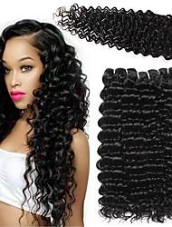 olcso -3 csomópont bezárásával Brazil haj Mély hullám Remy haj Az emberi haj sző Bundle Hair Egy Pack Solution 8-20 hüvelyk Természetes szín Emberi haj sző Szerepjáték Selymes Újonnan érkező Human Hair