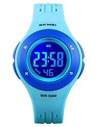 Недорогие -SKMEI Муж. электронные часы Цифровой Стеганная ПУ кожа Черный / Небесно-голубой 50 m Защита от влаги Календарь Секундомер Цифровой Мода Цветной - Лиловый Пурпурный Синий