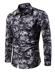 رخيصةأون -الرجال بالاضافة الى حجم قميص من القطن - قميص طوق هندسي