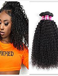 voordelige -4 bundels Braziliaans haar Kinky Curly Mensen Remy Haar Menselijk haar weeft Bundle Hair Een Pack Solution 8-28inch Natuurlijke Kleur Menselijk haar weeft Eenvoudig Geurvrij Mini Extensions van echt