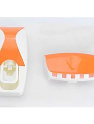 billige -sett 5 farger automatisk tannkrem dispenser sett 5 tannbørsteholder veggmontert bad forsyner toalettsaker