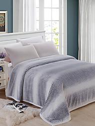 preiswerte -Bettdecken, Gestreift Flanell Vlies Wärmer Bequem Superweich Decken