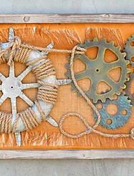 Недорогие -Новинки Декор стены деревянный / Металл европейский Предметы искусства, Металлические украшения на стену Украшение