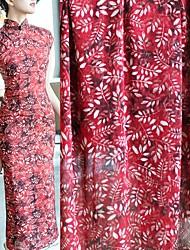 お買い得  -シフォン フローラル柄 パターン 145 cm 幅 ファブリック のために アパレルとファッション 売った によって 0.45m